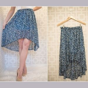 High front low back skirt